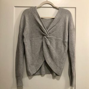 Loft twist back sweater